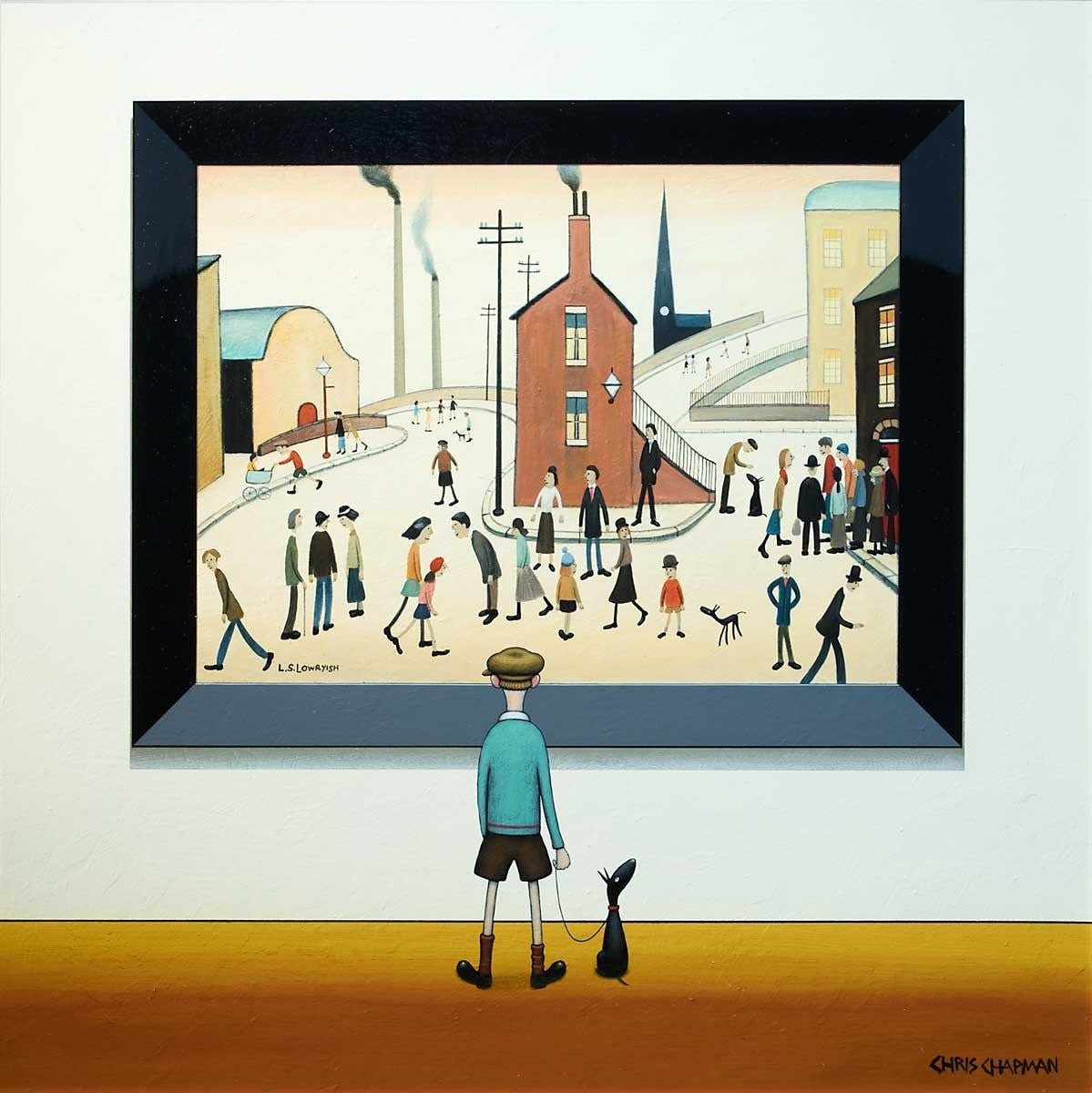 A Busy Street -SOLD Chris Chapman