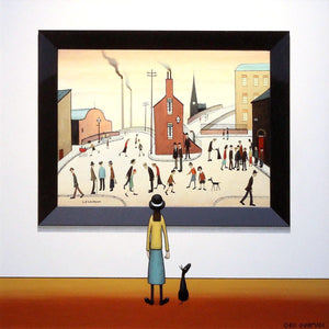 Girl and Dog - SOLD Chris Chapman