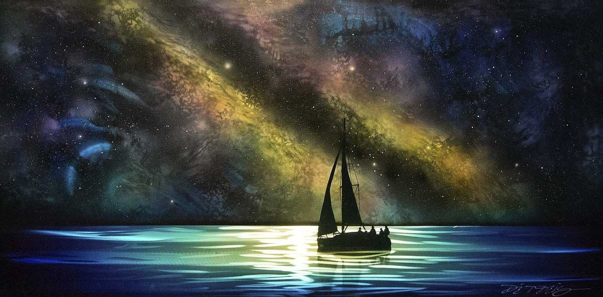 Cosmic Sail - SOLD Chris DeRubeis