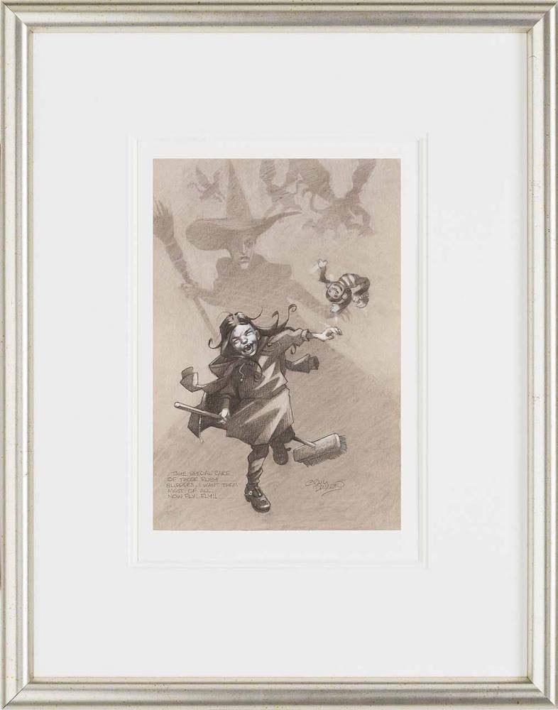 Take Special Care of those Ruby Slippers, I Want Them Most of All. Now Fly! Fly! (Sketch) - SOLD OUT Craig Davison