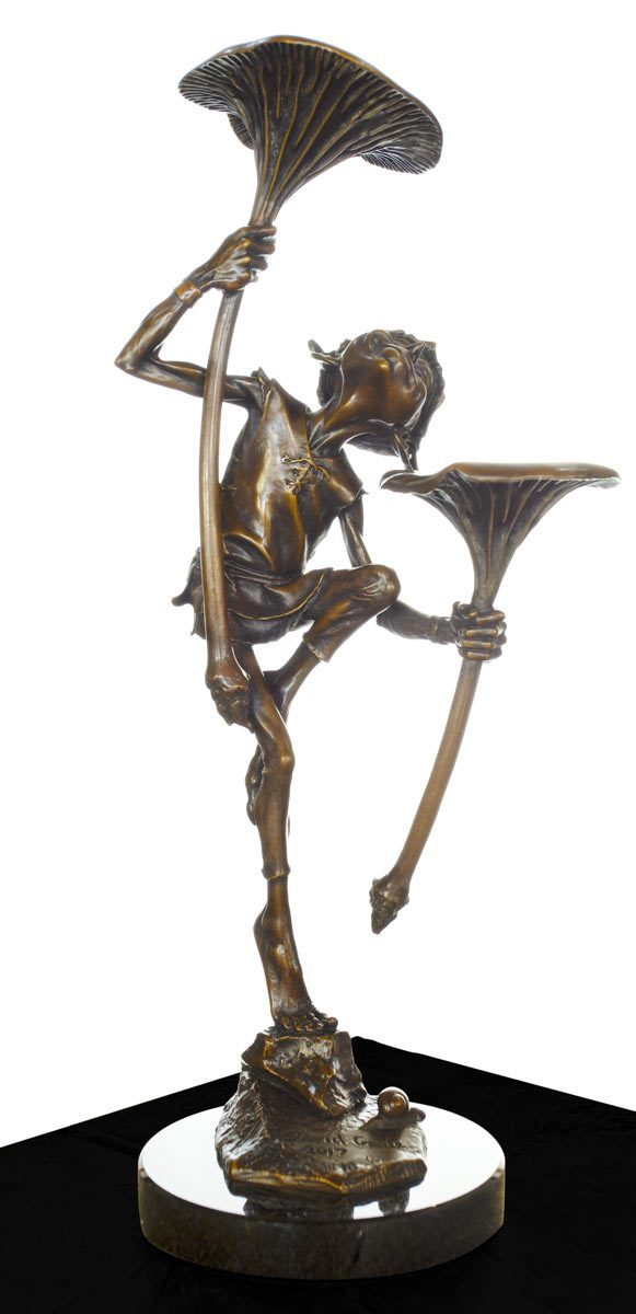 Goblin With Mushroom - Bronze Sculpture David Goode Loose