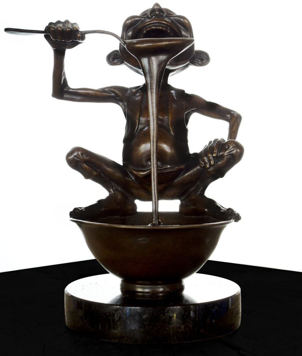 Little Pudding - Bronze Sculpture David Goode Loose