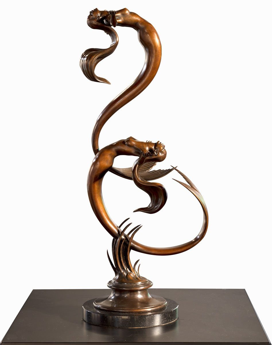 Mermaids - Bronze Sculpture David Goode Loose
