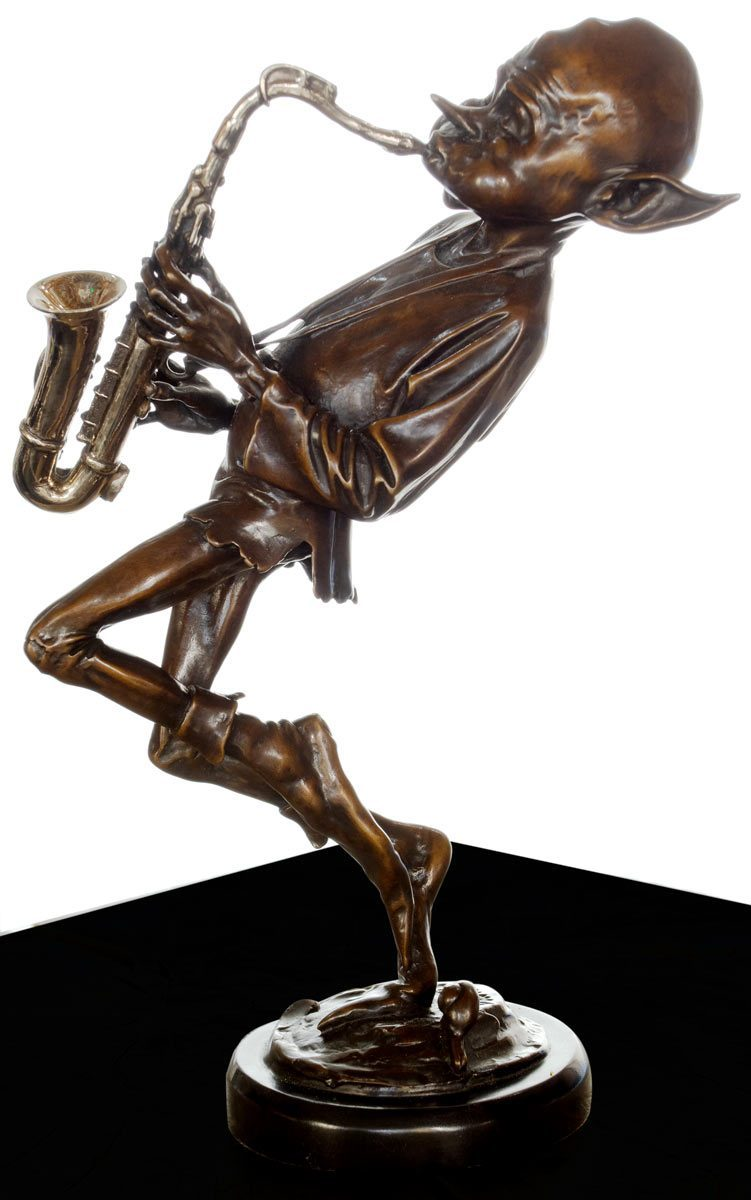 Sax Player - Bronze Sculpture David Goode Loose
