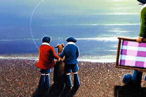 A Family Day Out - Original David Renshaw Framed