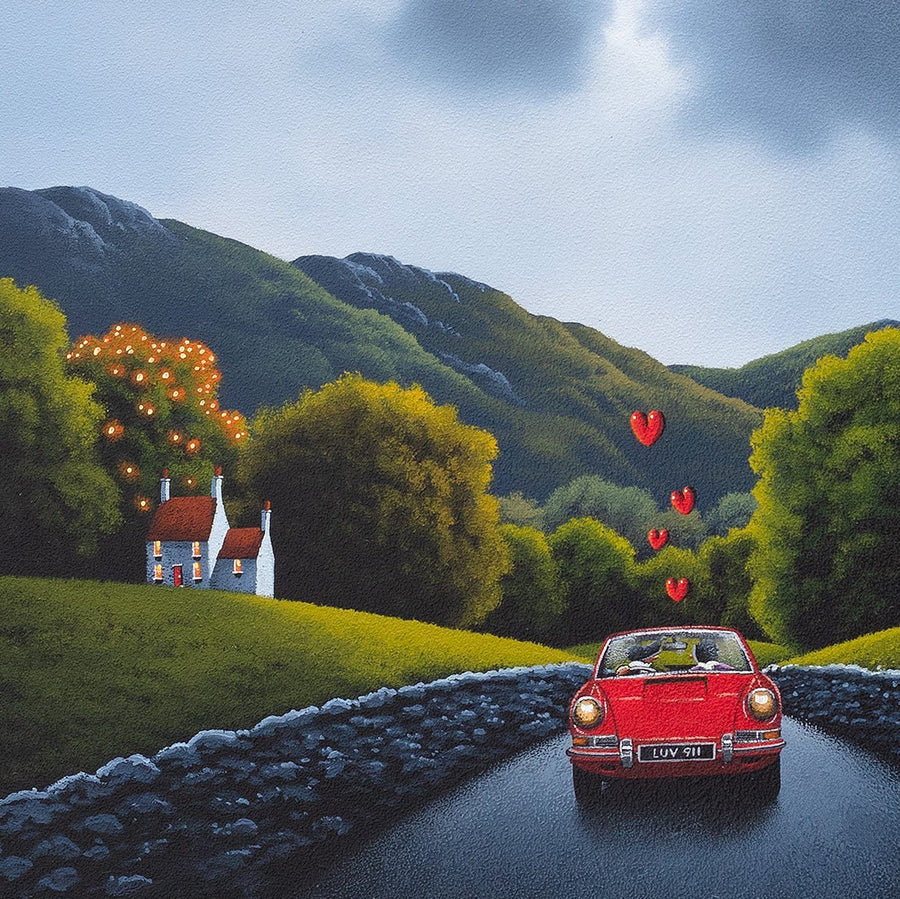 A Little Red Coupe David Renshaw Framed