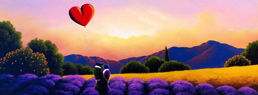 A Private Stroll - Original David Renshaw Framed