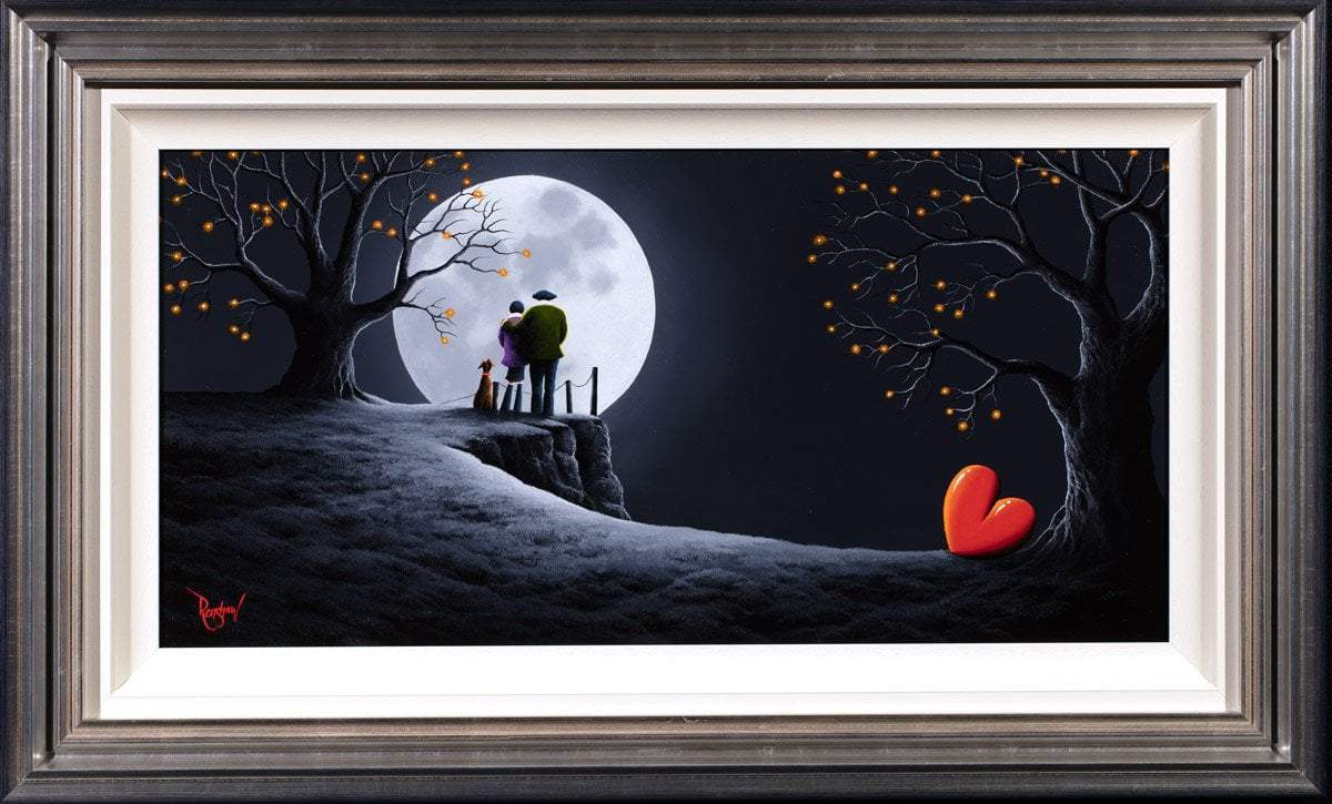 After Dark Lovers - Original David Renshaw Framed