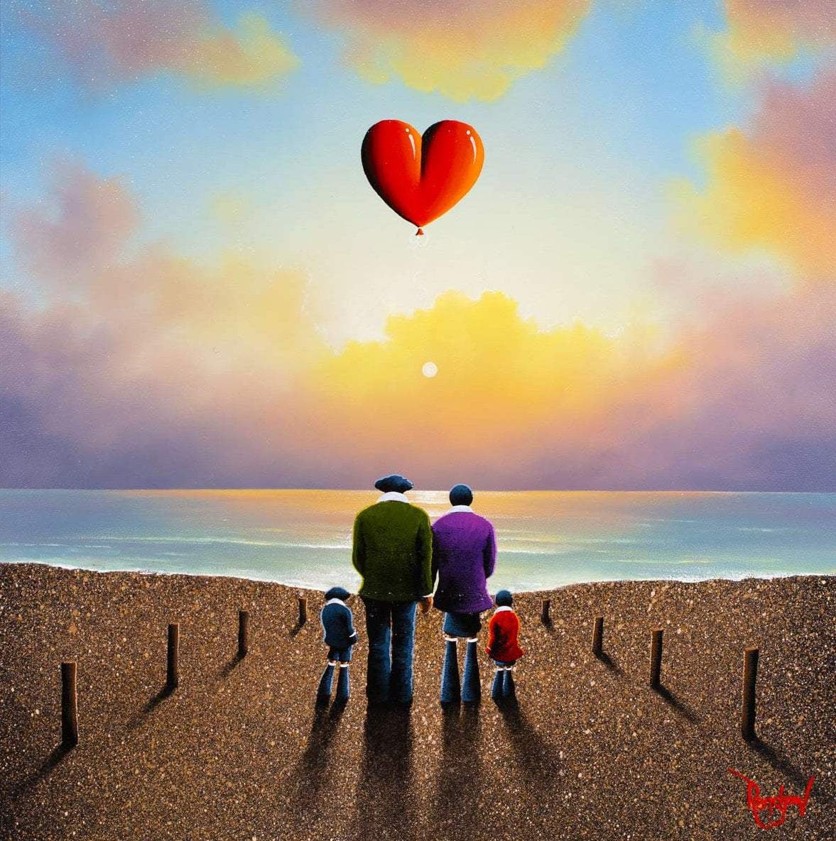 Against The Tide - Original David Renshaw Framed