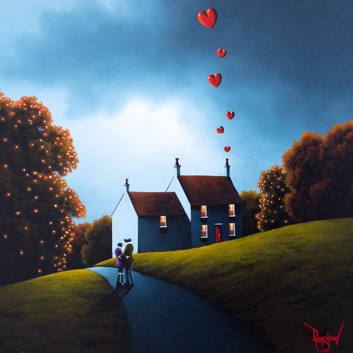 Autumn Embers - Original David Renshaw Framed