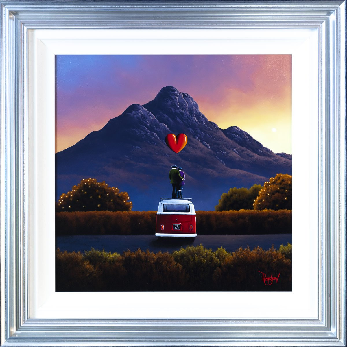 Camping With A View - Original David Renshaw Framed