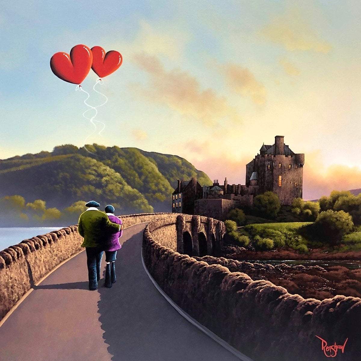 Castle on The Hill David Renshaw Framed