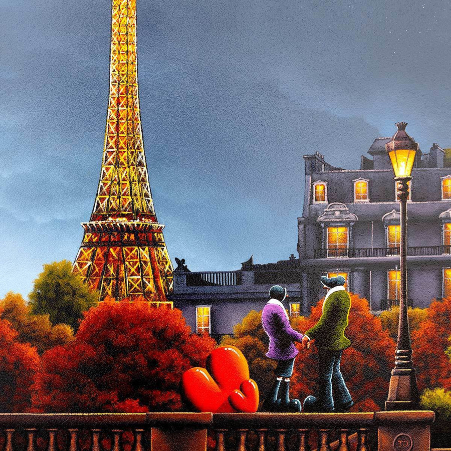 City of Love, City of Light - Original David Renshaw Framed