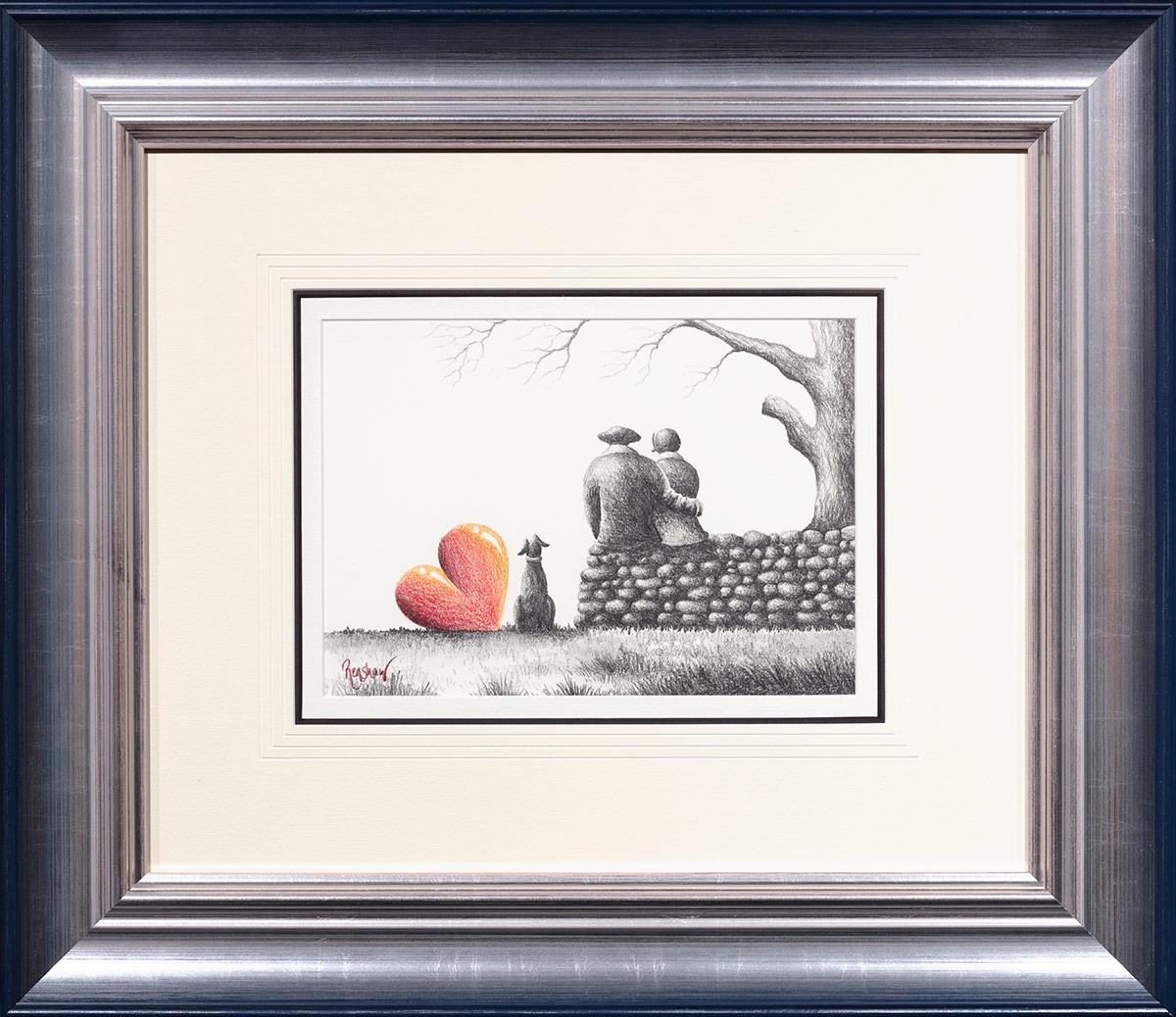Contemplation - Sketch David Renshaw Framed