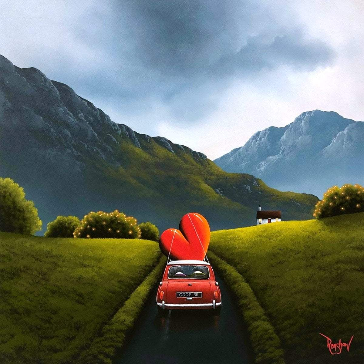 Countryside Drives - Original David Renshaw Framed