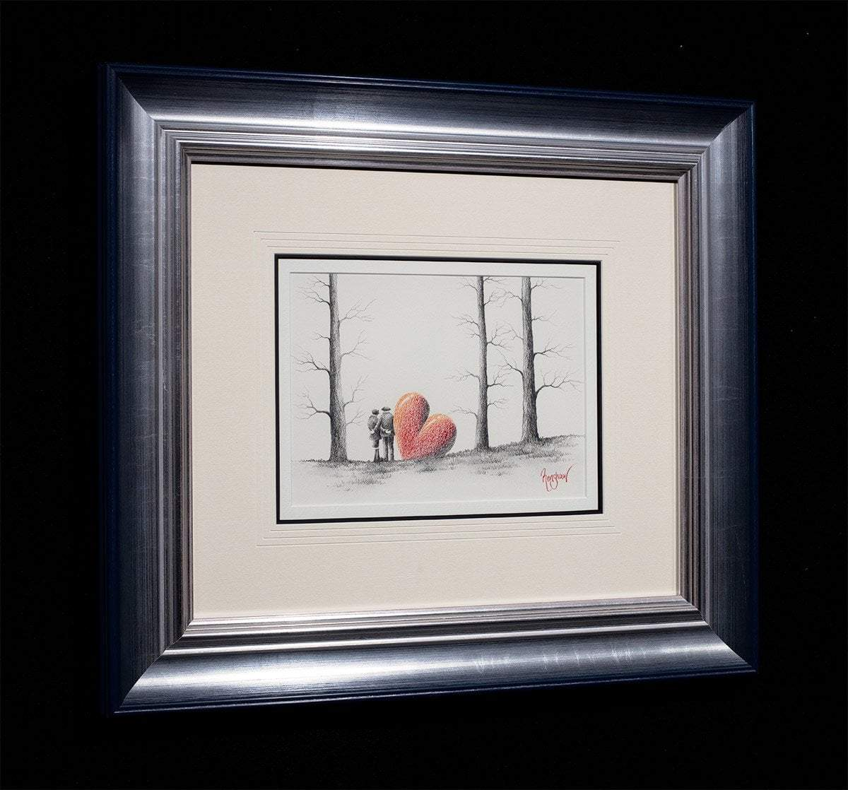Daydreamers - Original Sketch David Renshaw Framed