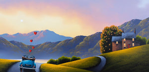 Driving Down Memory Lane - Original David Renshaw Framed