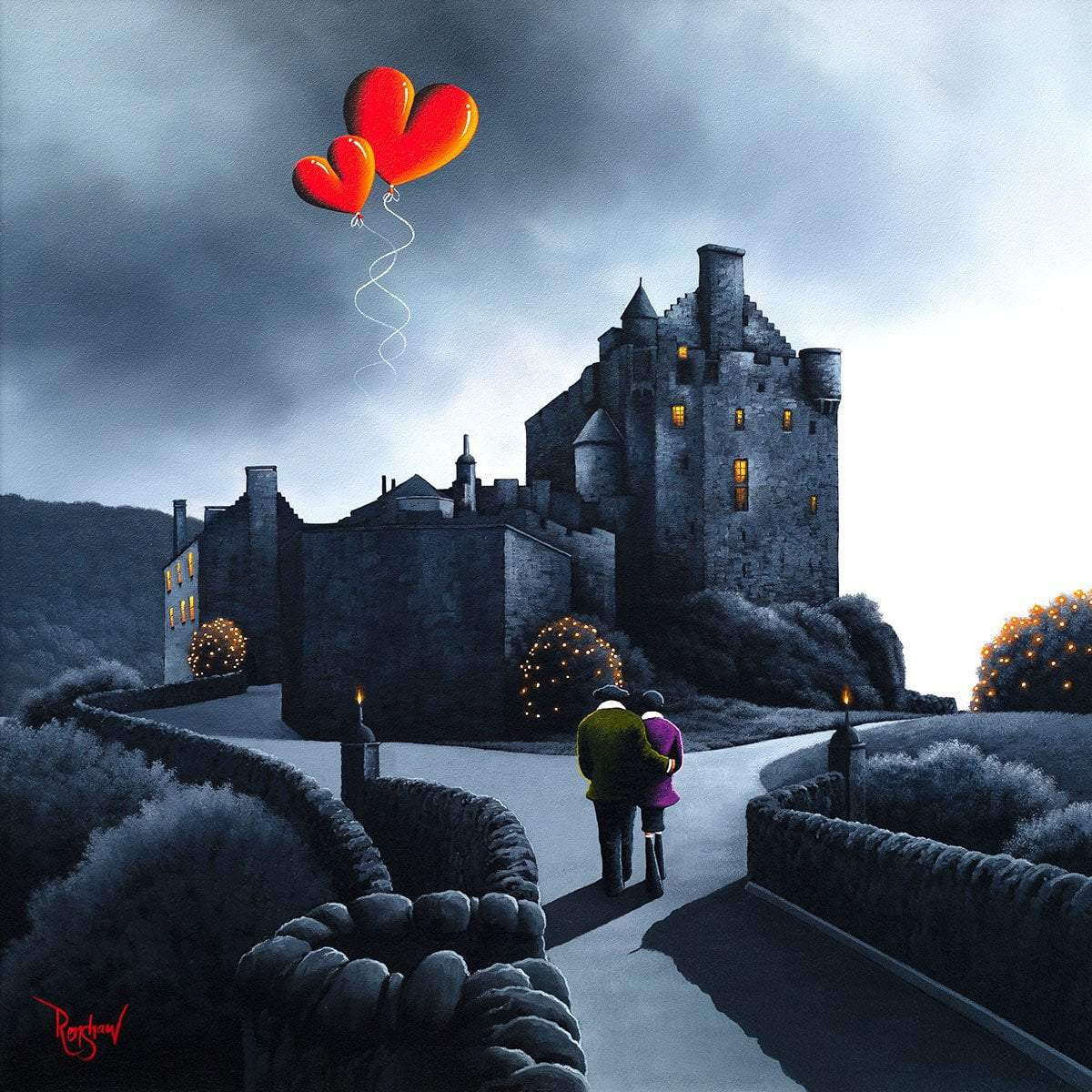 Eilean Donan Castle - Original David Renshaw Framed