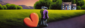 Evening Stroll - Original David Renshaw Framed