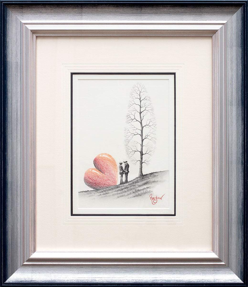 Forget Me Not - Original Sketch David Renshaw Framed