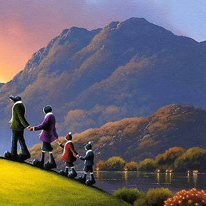 Hand In Hand - Original David Renshaw Framed