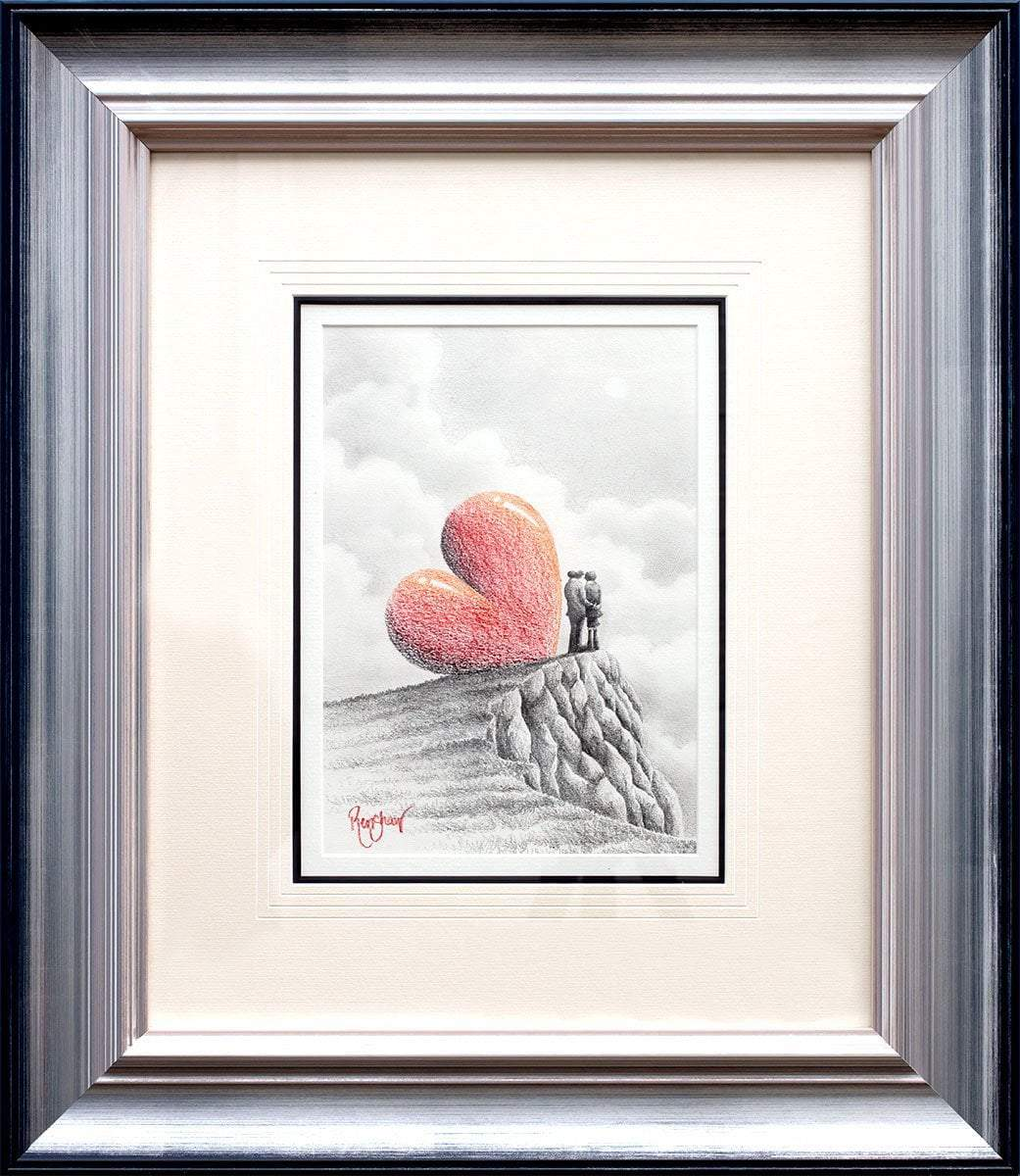 Heads In The Clouds - Original Sketch David Renshaw Framed