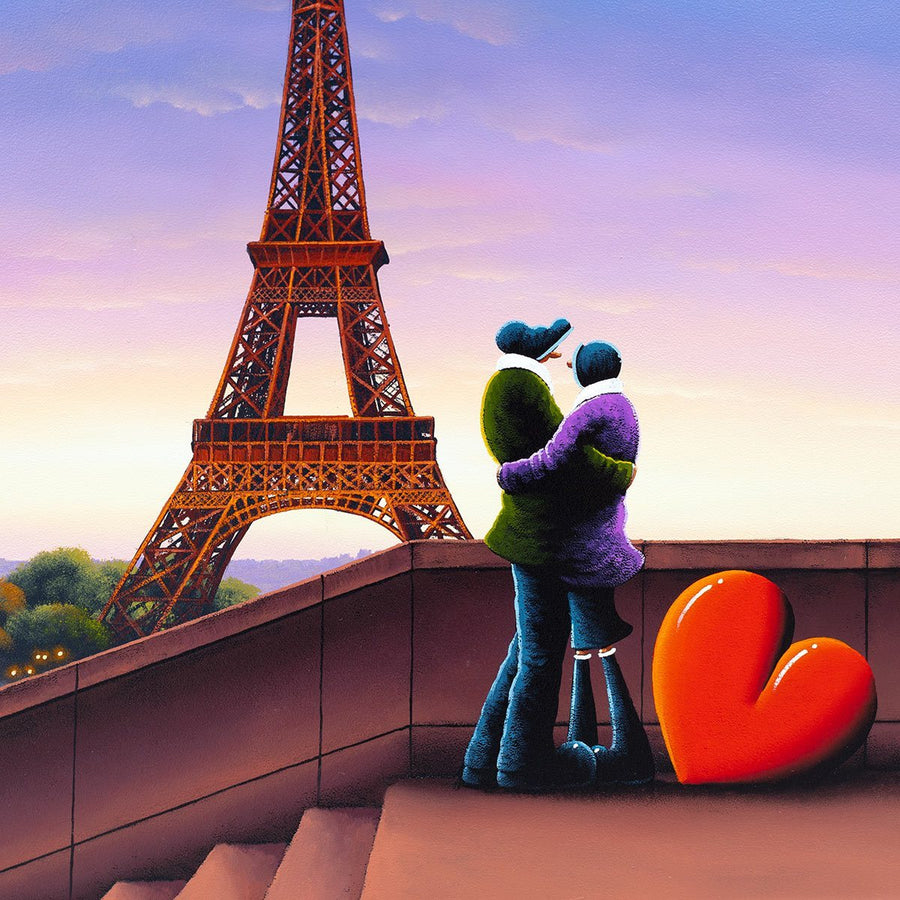 In Paris With You - Original David Renshaw Framed