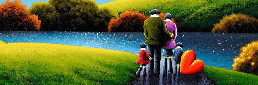 Lakeside Lovers David Renshaw Framed