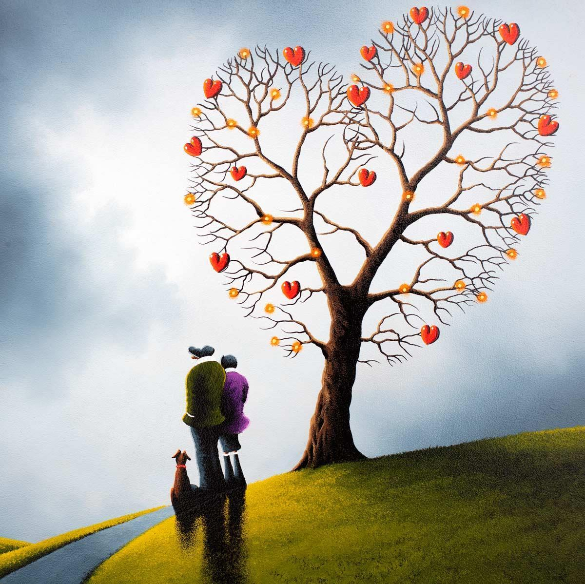 Let Love Grow - Original David Renshaw Framed