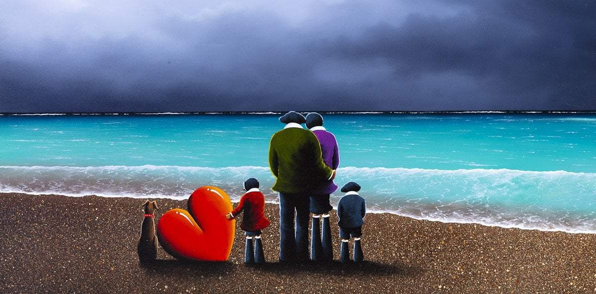 Looking Out to Sea - Original David Renshaw Framed