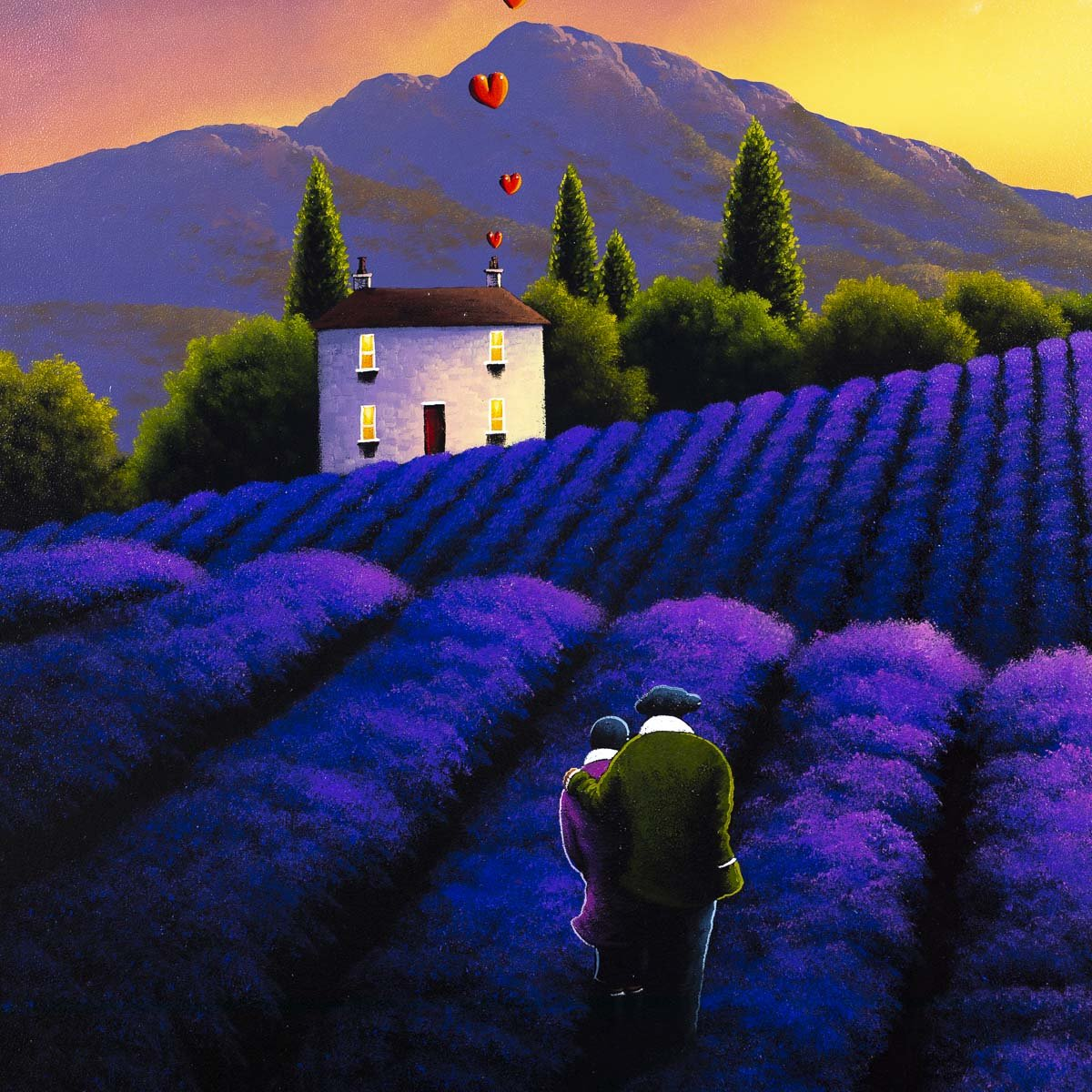 Love in the Lavender Fields - Original - SOLD