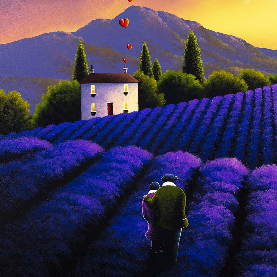 Love in the Lavender Fields - Original David Renshaw Framed