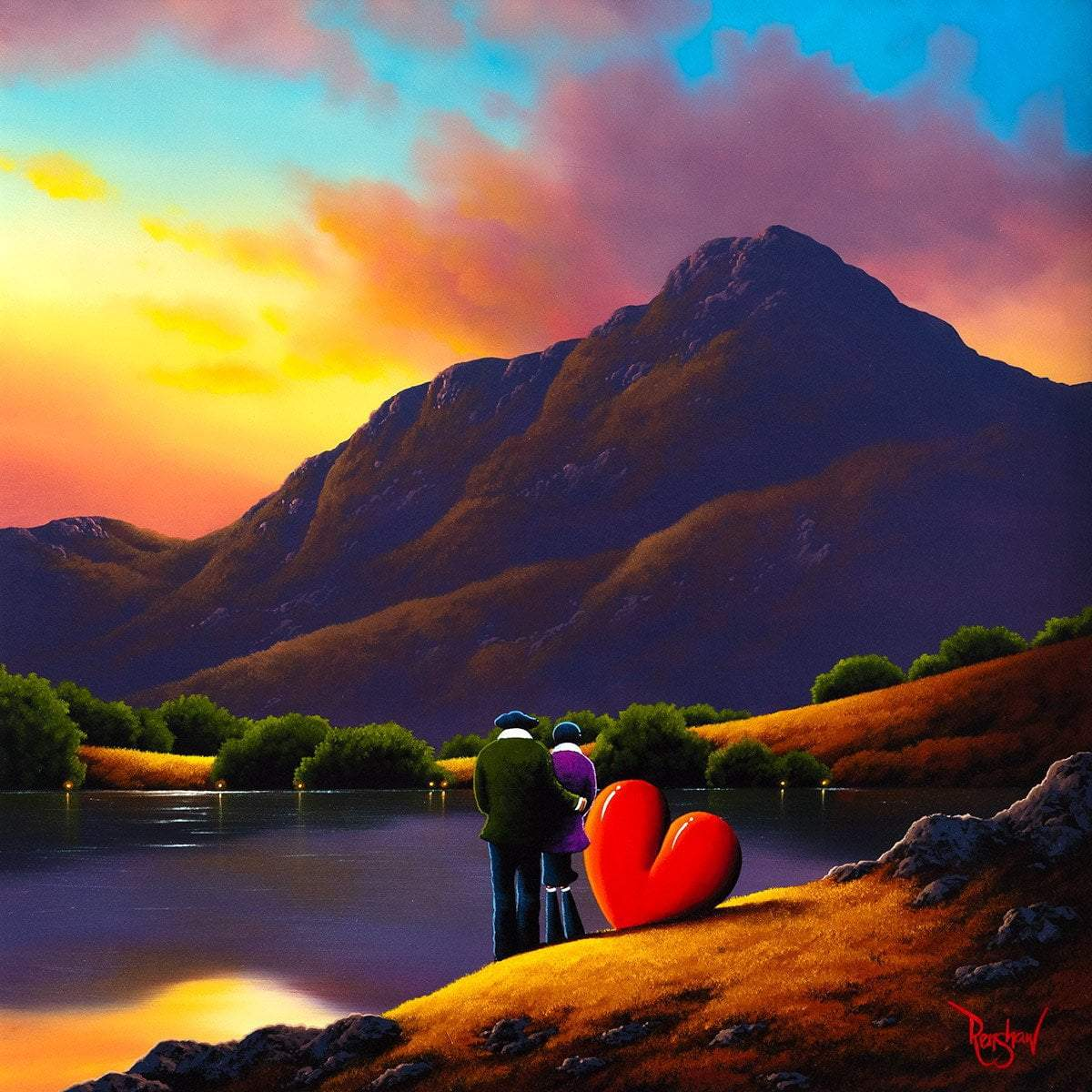 Love in The Valley - Original David Renshaw Framed