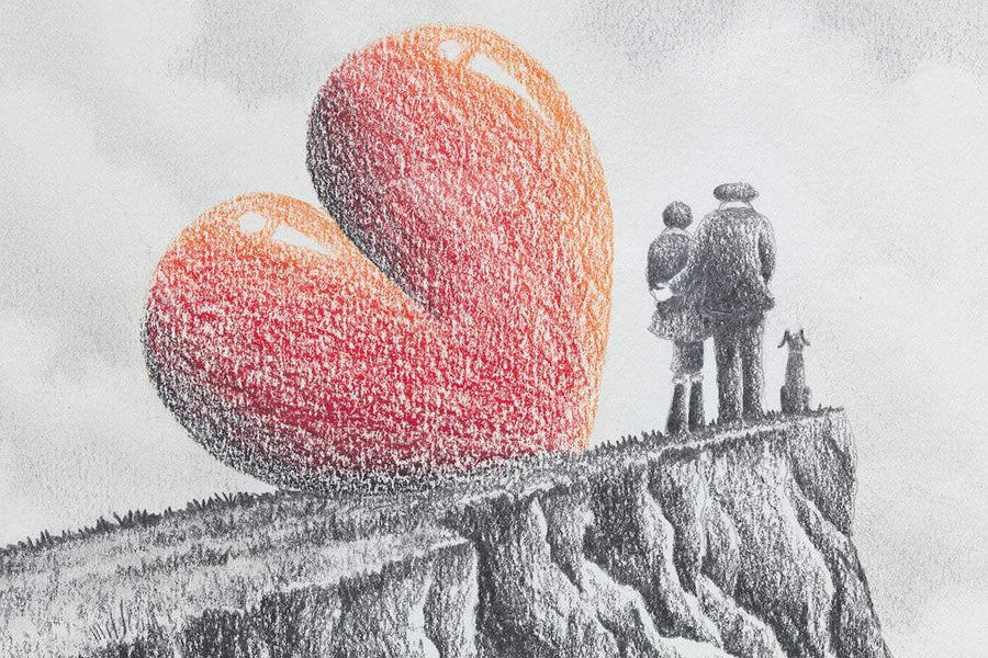 Love On Top - Original Sketch David Renshaw Framed