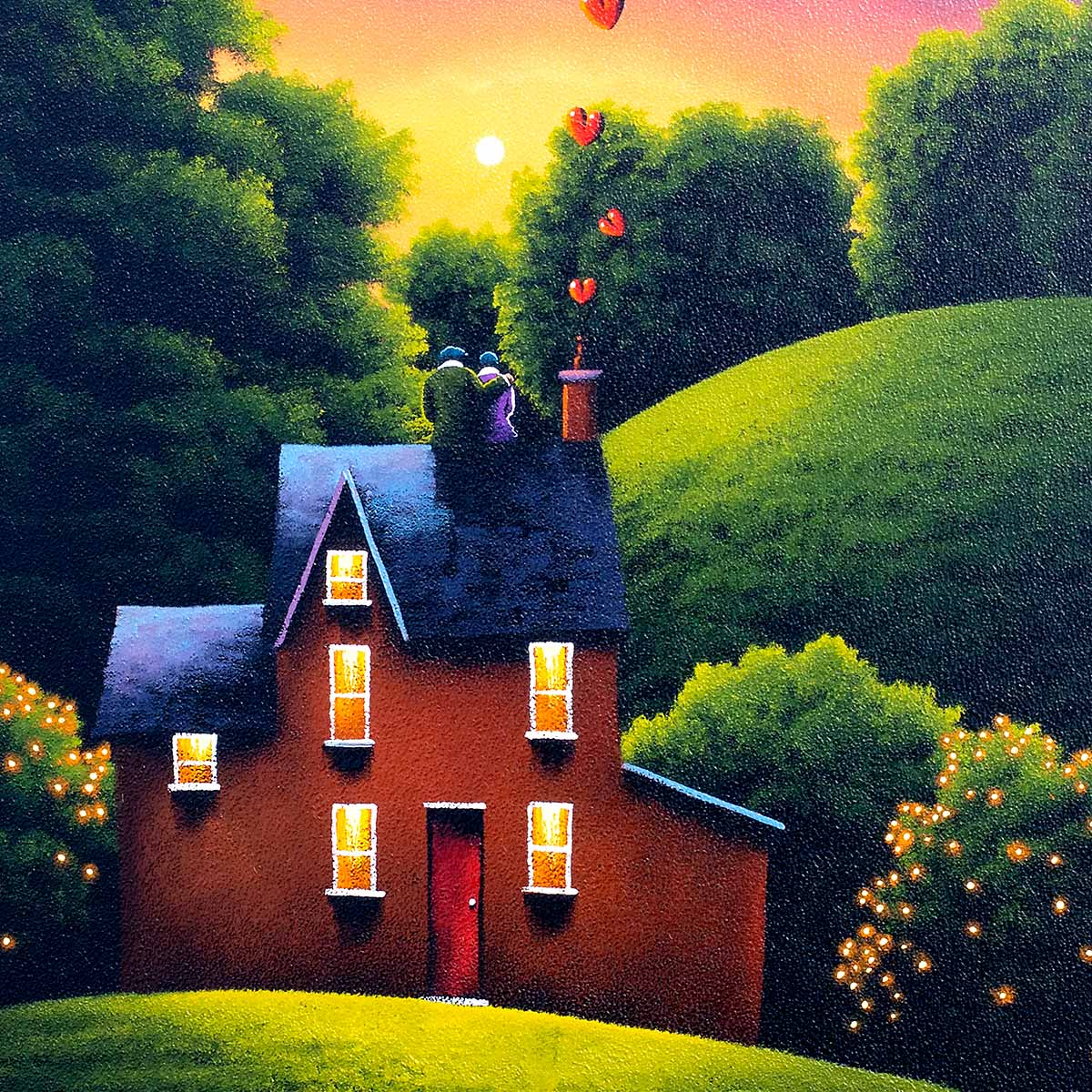 Loved Up - Original David Renshaw Framed