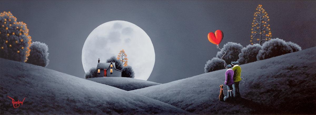Lunar Love David Renshaw Framed