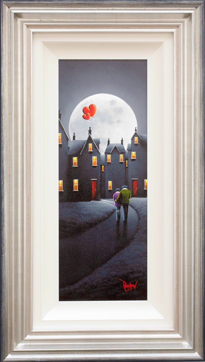 Moonlit Stroll David Renshaw Framed