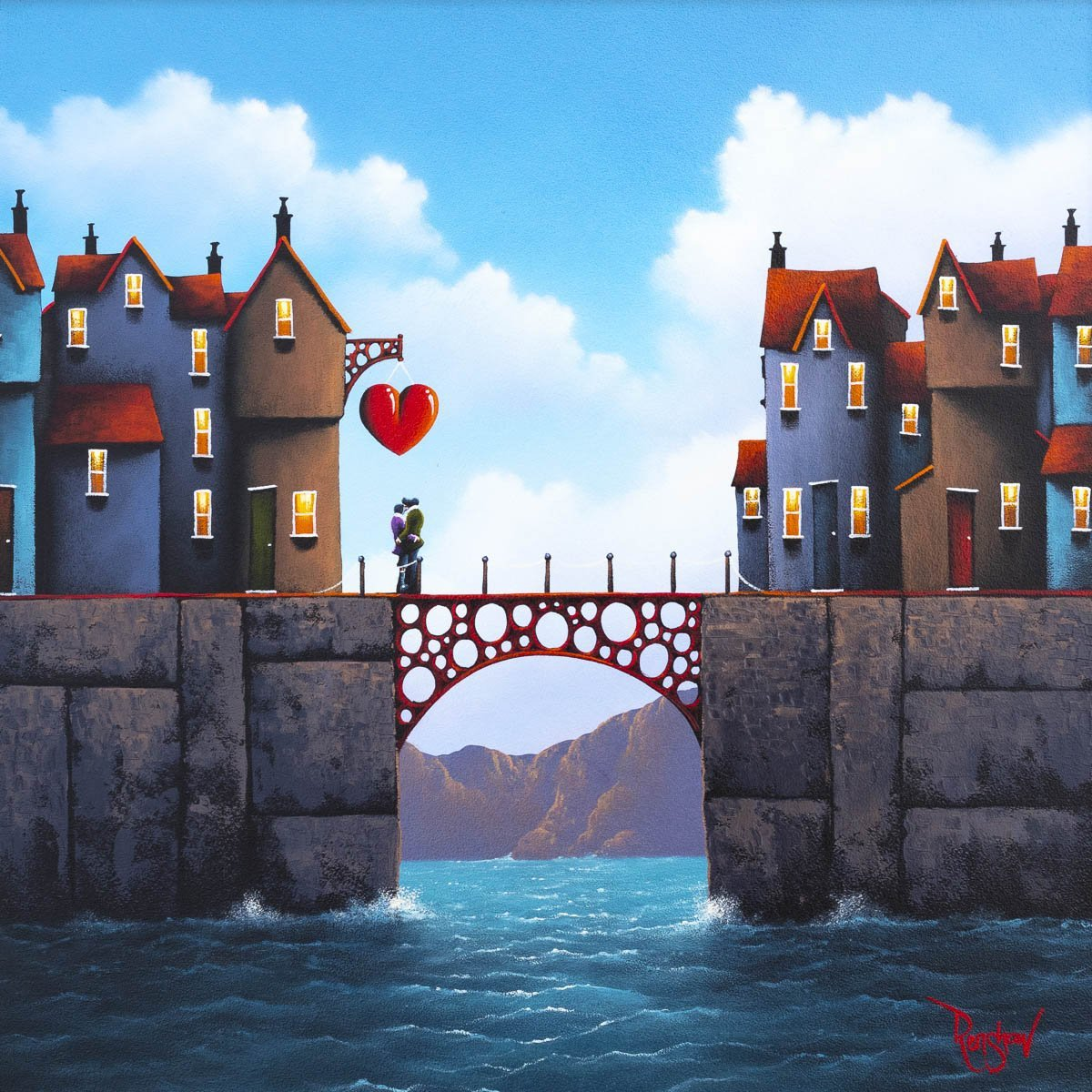Nothing Can Come Between Us - Original David Renshaw Framed