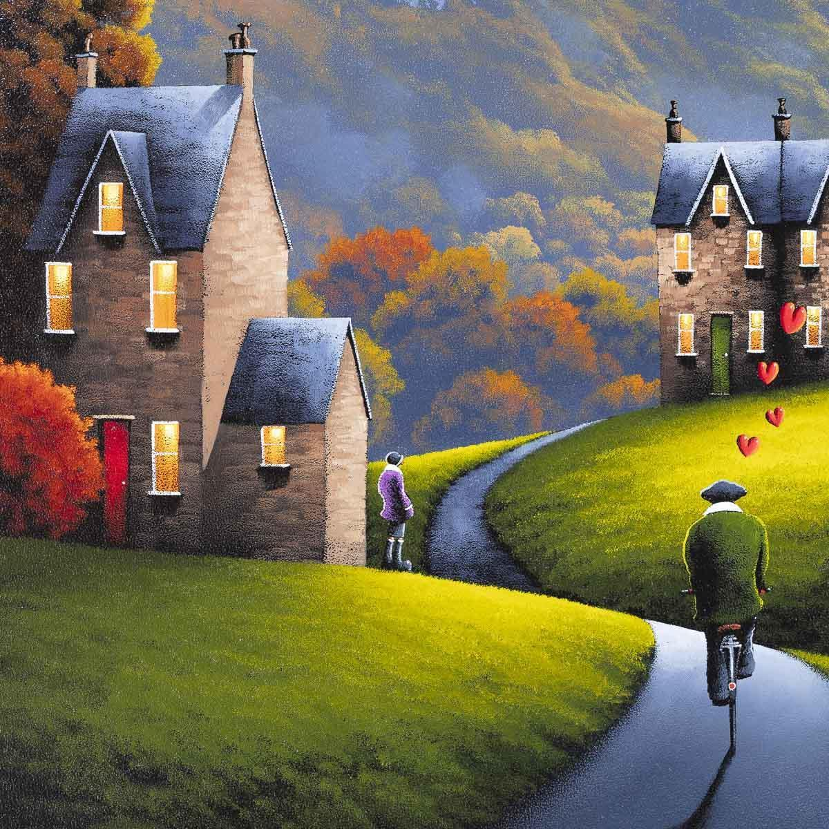 On My Way David Renshaw Framed