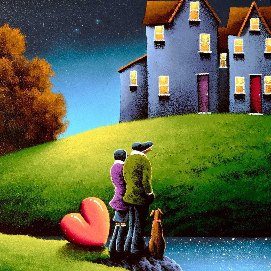 Our House On The Hill David Renshaw Framed
