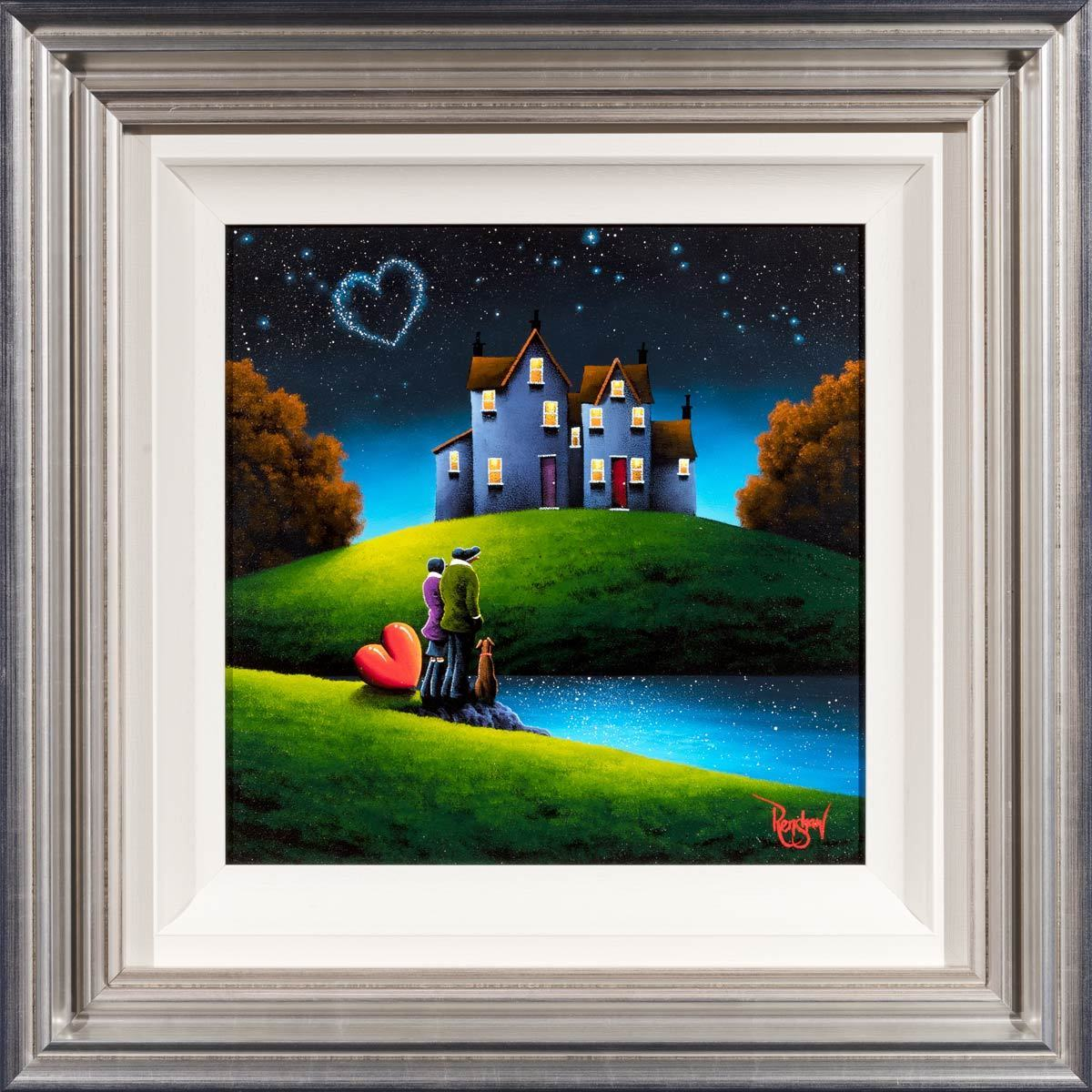 Our House On The Hill - Original David Renshaw Framed