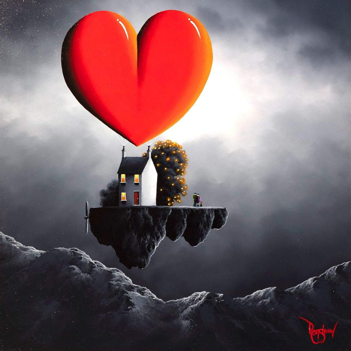 Our Love Is Sky High - Original David Renshaw Framed