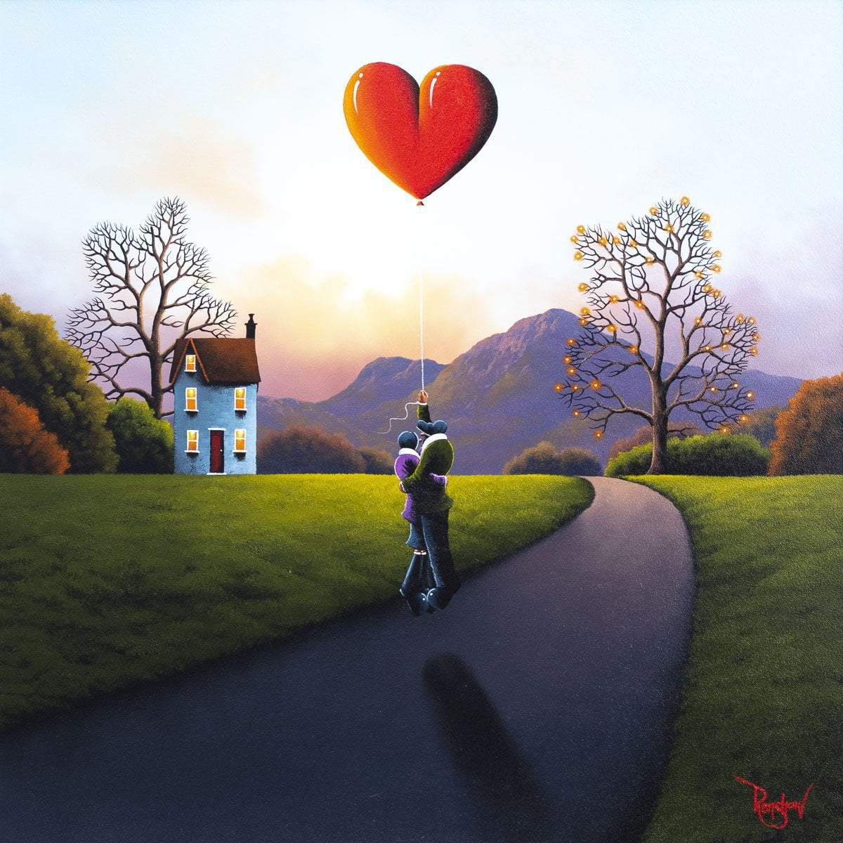 Our Love Takes Us Higher - Original David Renshaw Framed