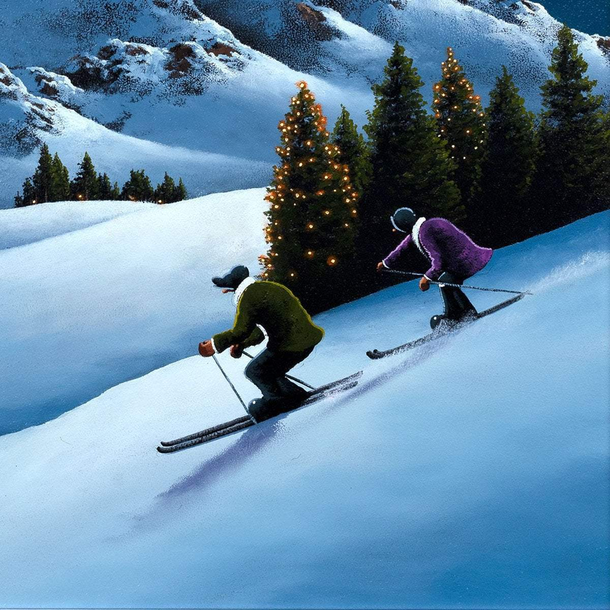 Race You to the Bottom! - Original David Renshaw Framed