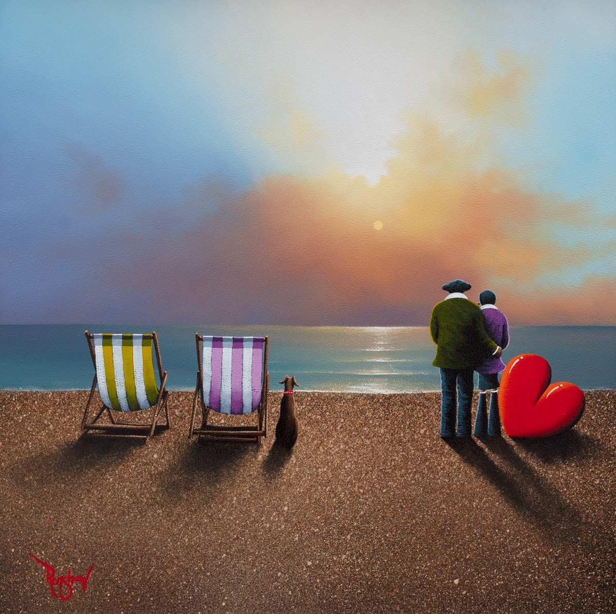 Shingle Beach David Renshaw Framed