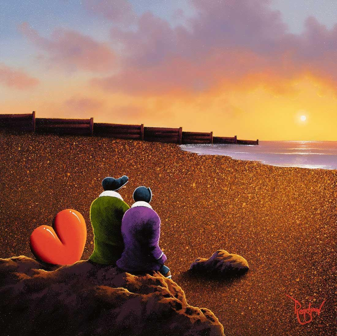 Sunset Beach David Renshaw Framed