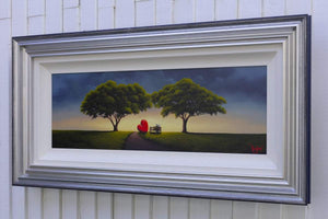 Sunset Lovers - Original David Renshaw Framed
