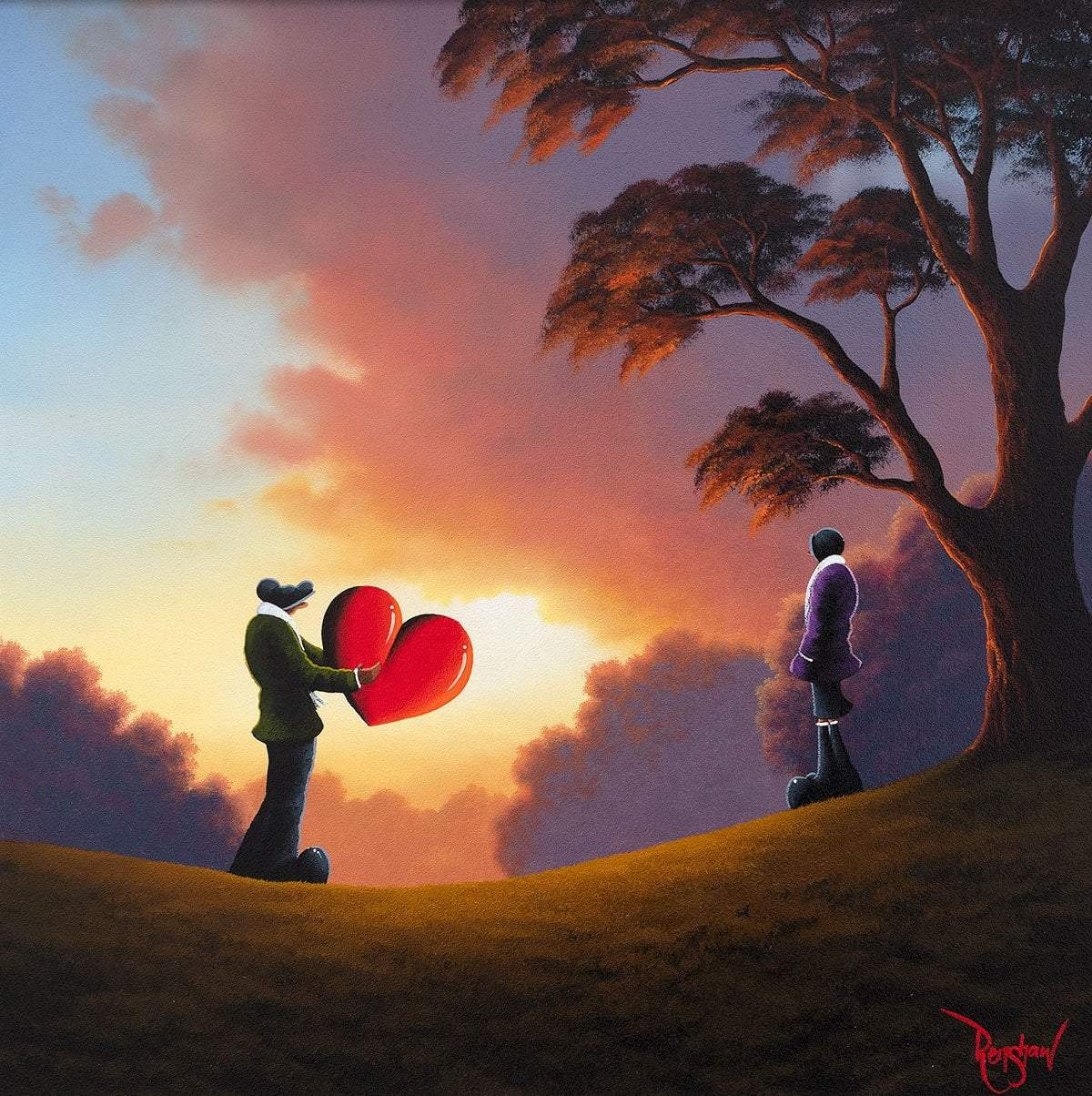 Take My Love - Original David Renshaw Framed