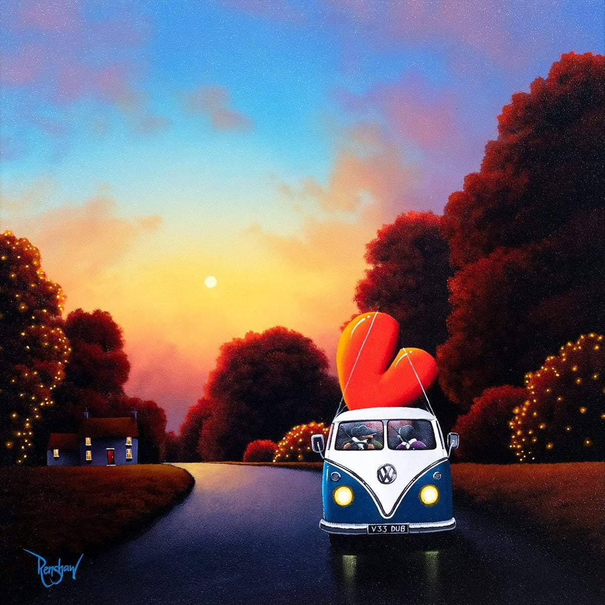 Taking Love With Us - Original David Renshaw Framed