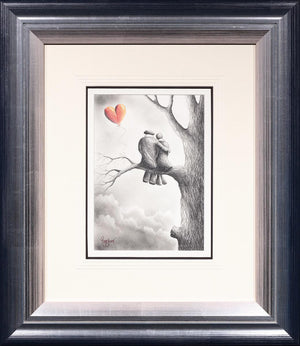 Up In The Clouds - Sketch David Renshaw Framed